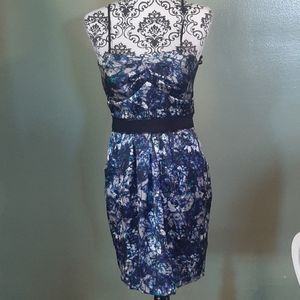 NWT Max&Cleo Blue Spaghetti Strap Party Dress